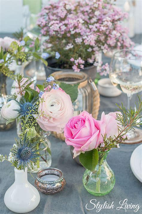 Blumen Tischdeko Einfach by Fr 252 Hlingshafte Tischdeko Und Dazu Blanchet Sponsored