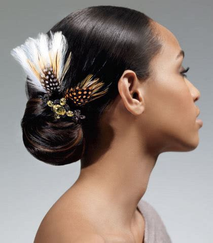styling products for an african american hair bun african american women wedding hair style hairstyles for