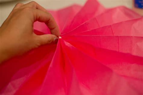 How To Make A Tissue Paper Fan - domestic fashionista paper flower fans tutorial