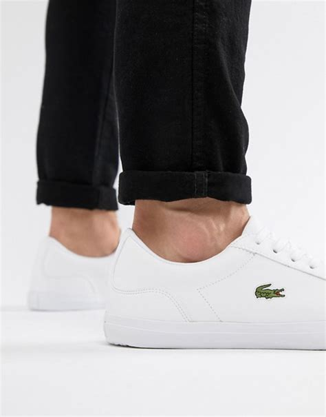 Lacoste Lerond Trainers In White lacoste lacoste lerond trainers in white