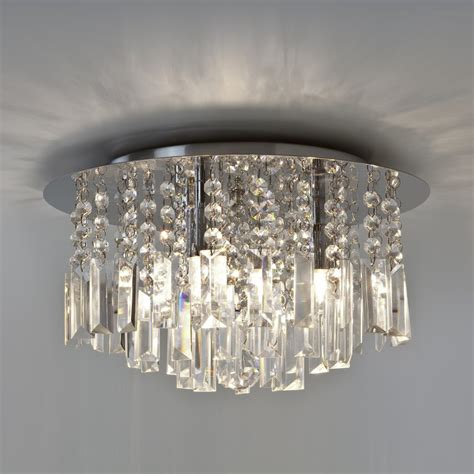 crystal lights for bathroom astro lighting evros 3 light crystal bathroom ceiling