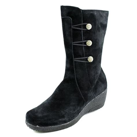 propet leather black mid calf boot boots