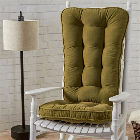traditional rocking chair cushions traditional style rocking chair with green seat cushions