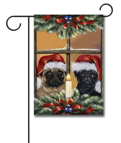 pug garden flags pug anticipation garden flag 12 5 x 18 custom printed flags flagology