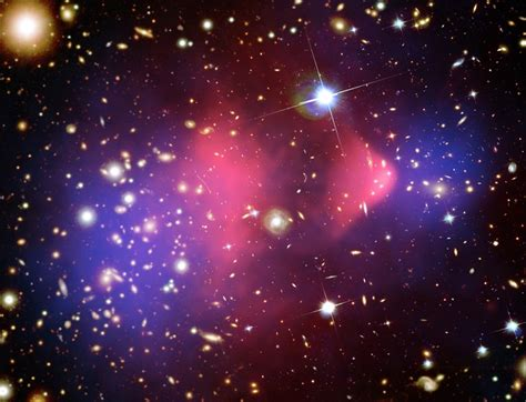 galaxy matter colliding galaxy clusters offer strongest yet for
