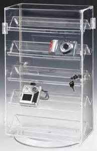 acrylic shelves display cases rotating countertop display rotating base 5 shelves