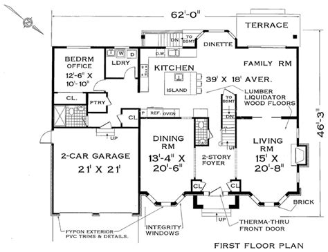 two story home design for large family