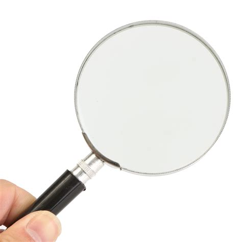 Magnifying Glass 75mm 5x handheld magnifying glass magnifier loupe metal