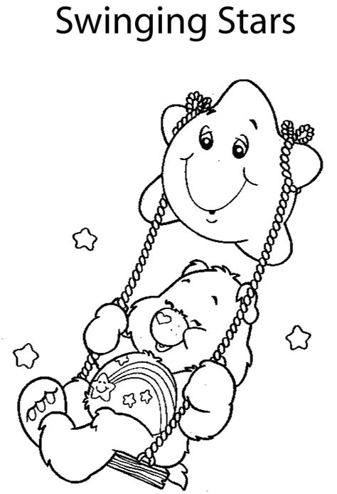 animal coloring pages quot care bear cartoon