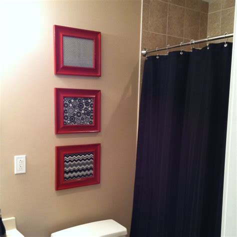 masculine bathroom shower curtains 119 best images about apartment home idea black red