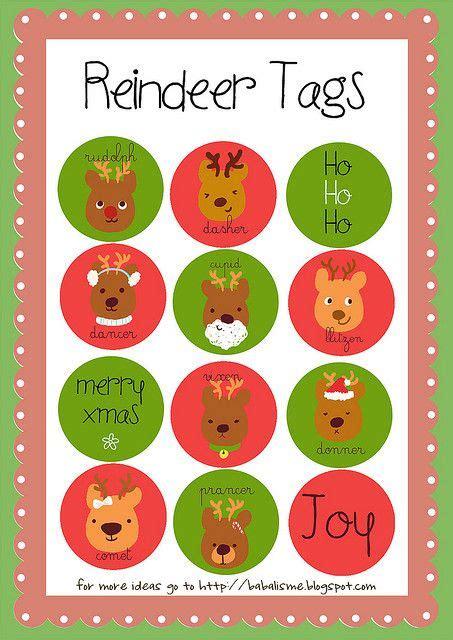 printable reindeer christmas tags reindeer tags cute free printable christmas cheer