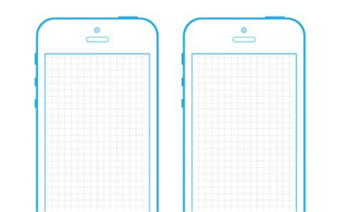 iphone 5 template actual size