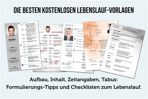 Lebenslauf Muster Herunterladen by Lebenslauf Vorlagen Tipps Und Gratis Word Muster