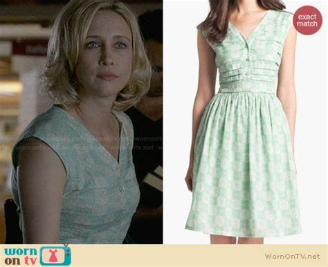 wornontv norma s mint green floral dress on bates motel