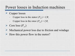 copper losses inductor induction machines