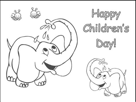 Happu Children S Day Coloring Pages Of Baby Elephant Coloring Pages Of Children S Day