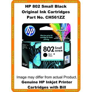 Hp 802 Black By Ok Mart hp 802 small black ink cartridge ch561zz buy hp 802