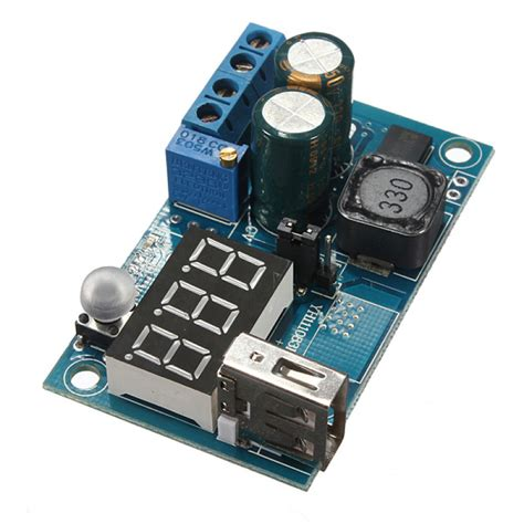 Lm2596 Adjustable Step Power Module Led Voltmeter 1 buy 5pcs dc dc lm2596 usb led voltmeter adjustable step module bazaargadgets