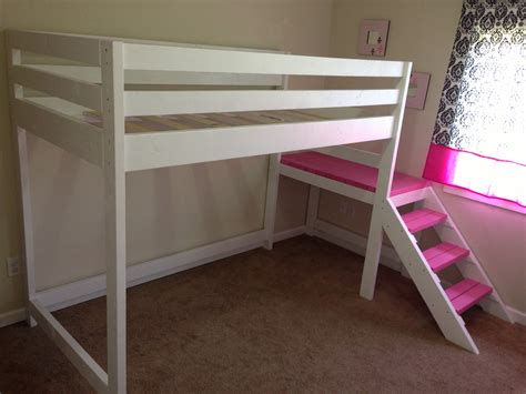 Loft Beds White C Loft Bed With Matching Doll Sized Loft Bed Diy Projects