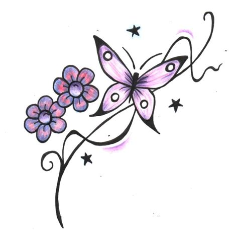 design flower and butterfly butterfly tattoos and designs page 353