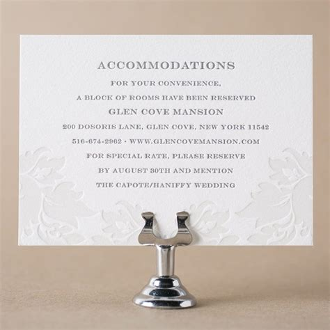 Hotel Accommodation Cards Template by Letterpress Direction And Accommodation Cards From