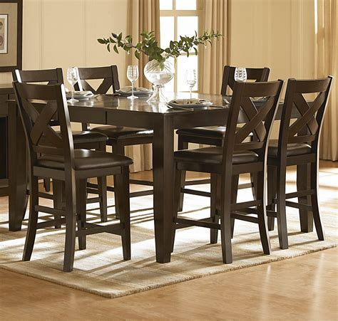 counter height dining room table sets homelegance crown point 5 piece counter height dining room