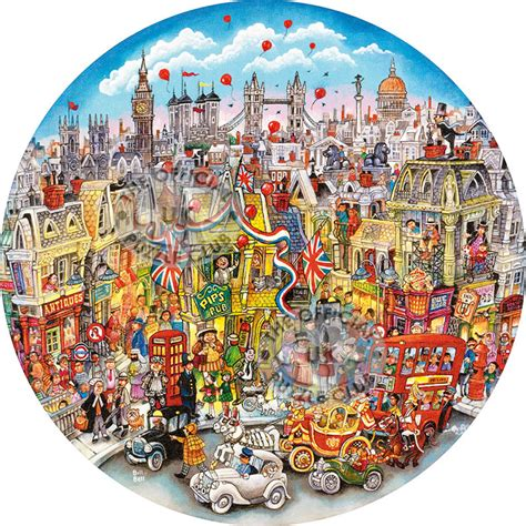 Circular Jigsaw Puzzles Gibsons Jigsaw Puzzles Rooftops Pageantry Circular Jigsaw Puzzle At The Jigsaw Shop G3050