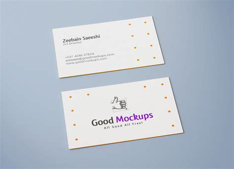 Single Sided Business Card Template Psd by Free Sided Business Card Mockup Psd Mockups