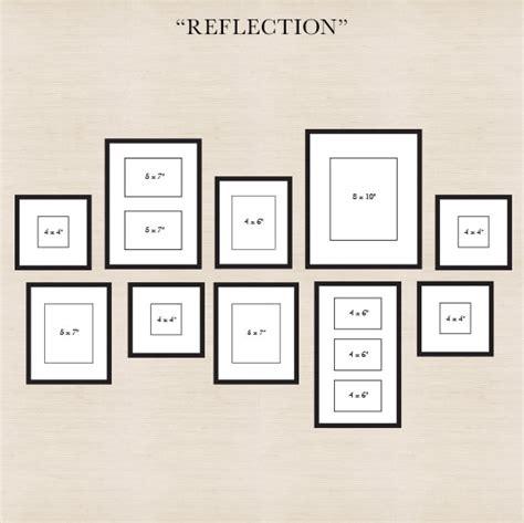 arrangement of photo frames on wall