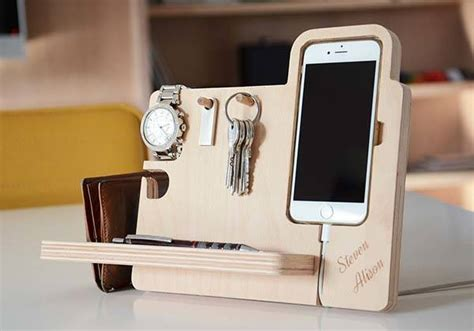 iphone desk stand holder the handmade desk organizer boasts integrated stand