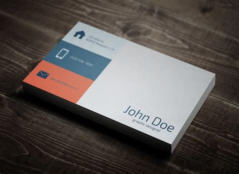 flat design business card template flat business card magichat design