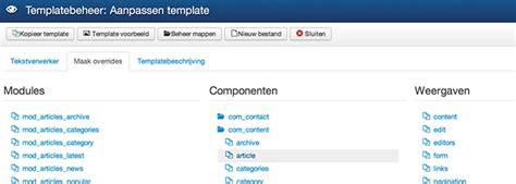 joomla template zelf maken 10 tips om joomla gebruiksvriendelijker te maken