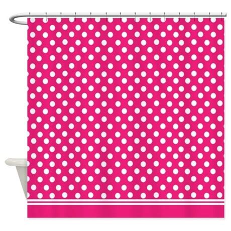 pink and white polka dot shower curtain hot pink polka dot shower curtain by inspirationzstore