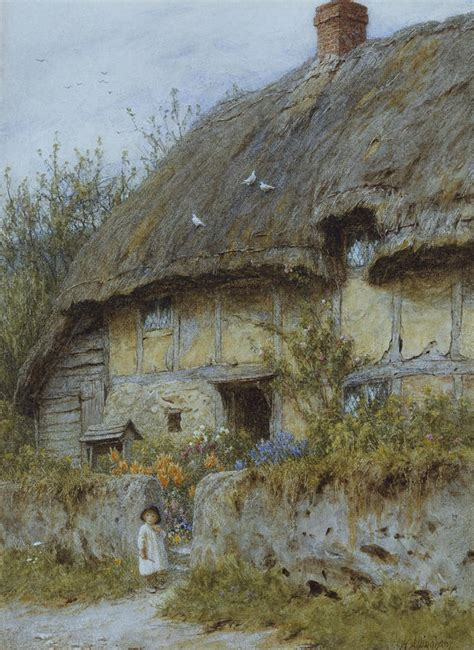 cottages berkshire a berkshire cottage painting by helen allingham