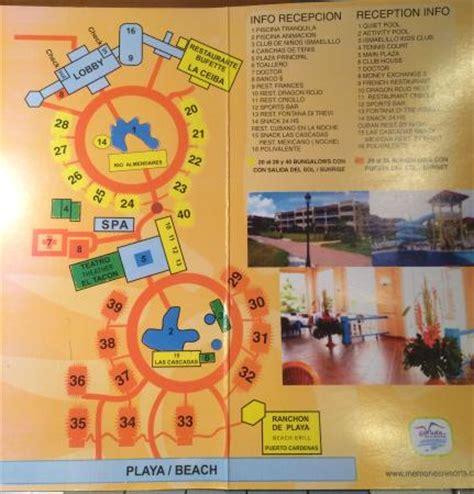 memories resort holguin map map of the memories varadero resort picture of memories