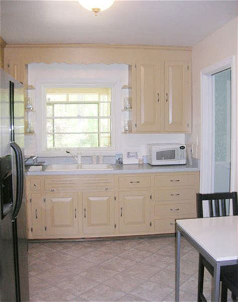 How To Paint Vinyl Kitchen Cabinets How To Use Peel And Stick Vinyl Tiles To Update Your Kitchen House