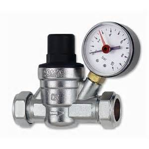 Pressure reducing valve with gauge 22mm 15mm