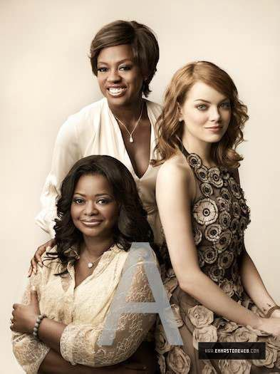 emma stone viola davis movie female cast of the wonderful quot the help quot emma stone