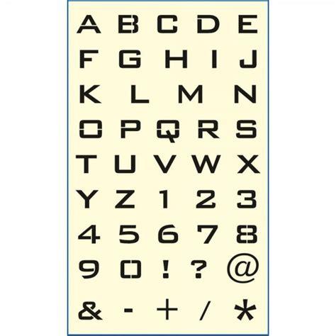 Motive Mit Buchstaben by Mako Cl Motiv Schablone 3 Buchstaben Zahlen