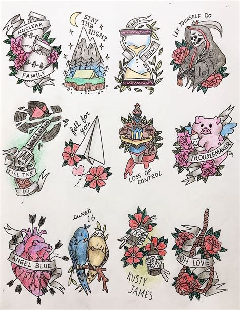 green day tattoo flash for 161 uno by green day tattoos