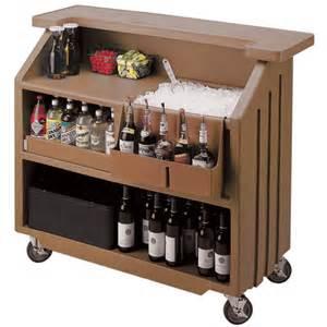 Portable Home Bar Cambro Portable Bar 540 Brown Portable Cambars