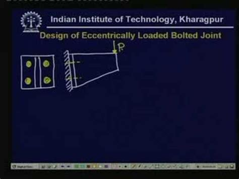 design of machine elements youtube lecture 25 design of joints with eccentric loading youtube