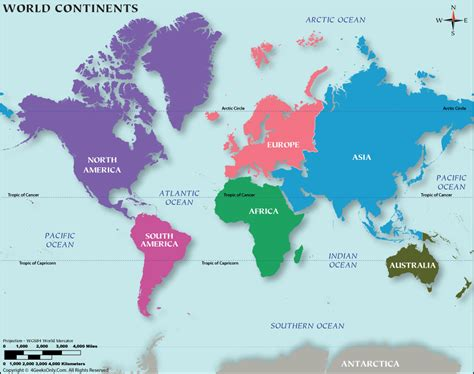 world map image continents world map with all continents images
