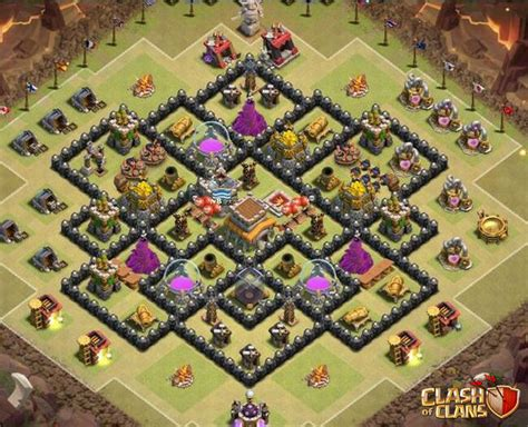 best defense town hall level 8 2016 best town hall 8 base defense www pixshark com images