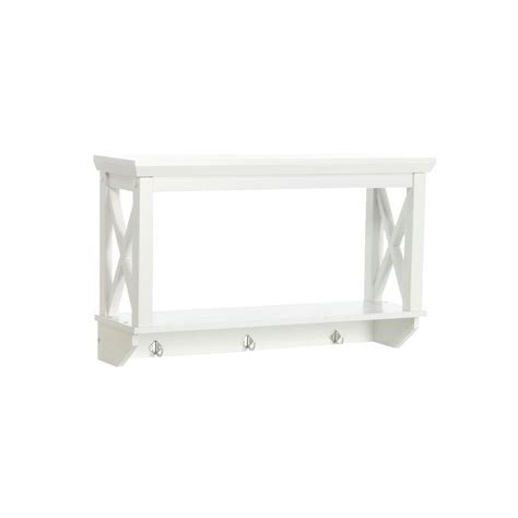 Home Depot Bathroom Shelves Riverridge Home X Frame 7 17 25 In L X 15 7 20 In H X 25 49 50 In W Wall Mount Mdf 2 Shelf In