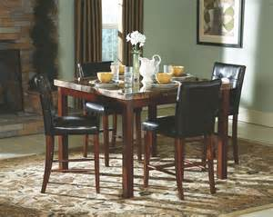 achillea faux marble counter height dining room set from homelegance 3273 36 coleman furniture