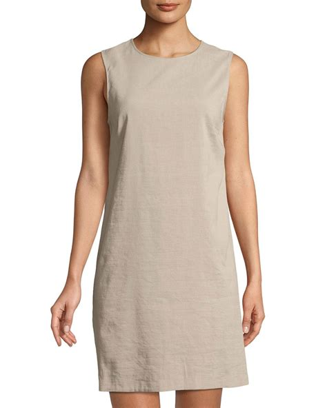 Back Lace Dress W398 lyst theory keshelle lace up back shift dress in gray