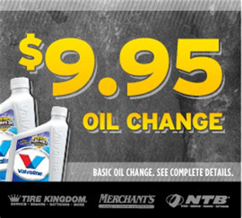 oil change  tire rotation coupon