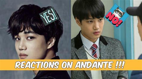 exo korean film exo s kai on andante reactions by netizens exo