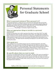 Graduate School Essay Prompts by Grad School Writing A Personal Statement For Grad School